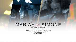 WALACAMTV ITS ON!! QUEEN MARIAH VS ''new dancer'' SIMONE RD 1 @ FINAL PHAZE /DA WARZONE!!