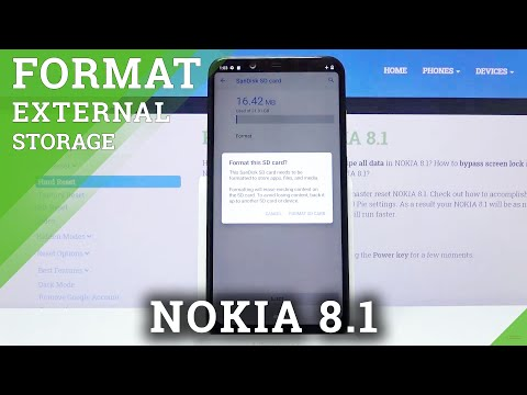 How to Format SD Card in Nokia 8.1 - Delete Data from SD Card