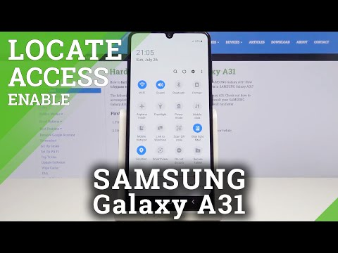 How to Disable Location Feature in Samsung Galaxy A31 - Turn On Device Location