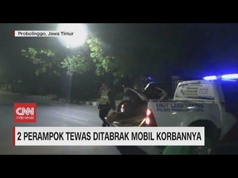 Dua Perampok Tewas Ditabrak Mobil Korbannya