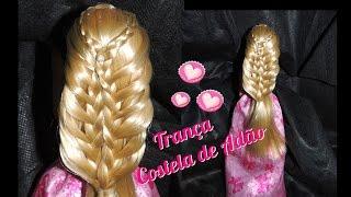 ❤Penteado Barbie Trança Costela de Adão
