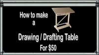 How to Make a Drawing / Drafting Table for $50 - YouTube