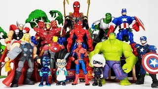 Romeo Created The Avengers Clone~! Hulk, Iron man, Thor, Captain America, Spider Man Toys Play