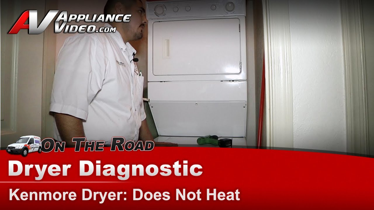 Kenmore Gas Dryer Diagnostic  Does not heat  11099576200  YouTube
