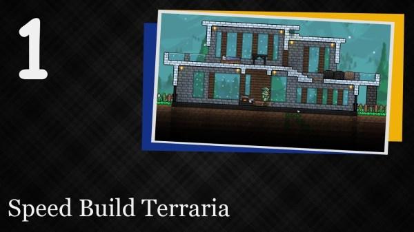 Speed Build Terraria 1 Modern House YouTube
