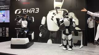Demonstration of T-HR3 robot by Toyota at iRex17 (part 1 of 2) [RAW ]