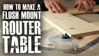 Make a Flush Mount Router Station!
