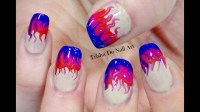Easy Electric Flame Nail Design (Toothpick Marbling) - YouTube