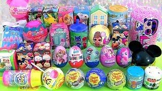 31 Surpresas Peppa Pig, Bonecas LOL, Chupa Chups Brinquedos Smushy Mushy