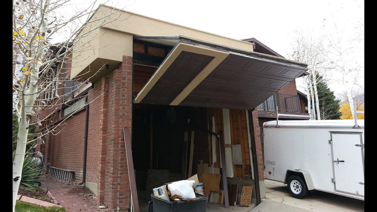 Worlds Coolest Garage Door Homemade for RV  YouTube