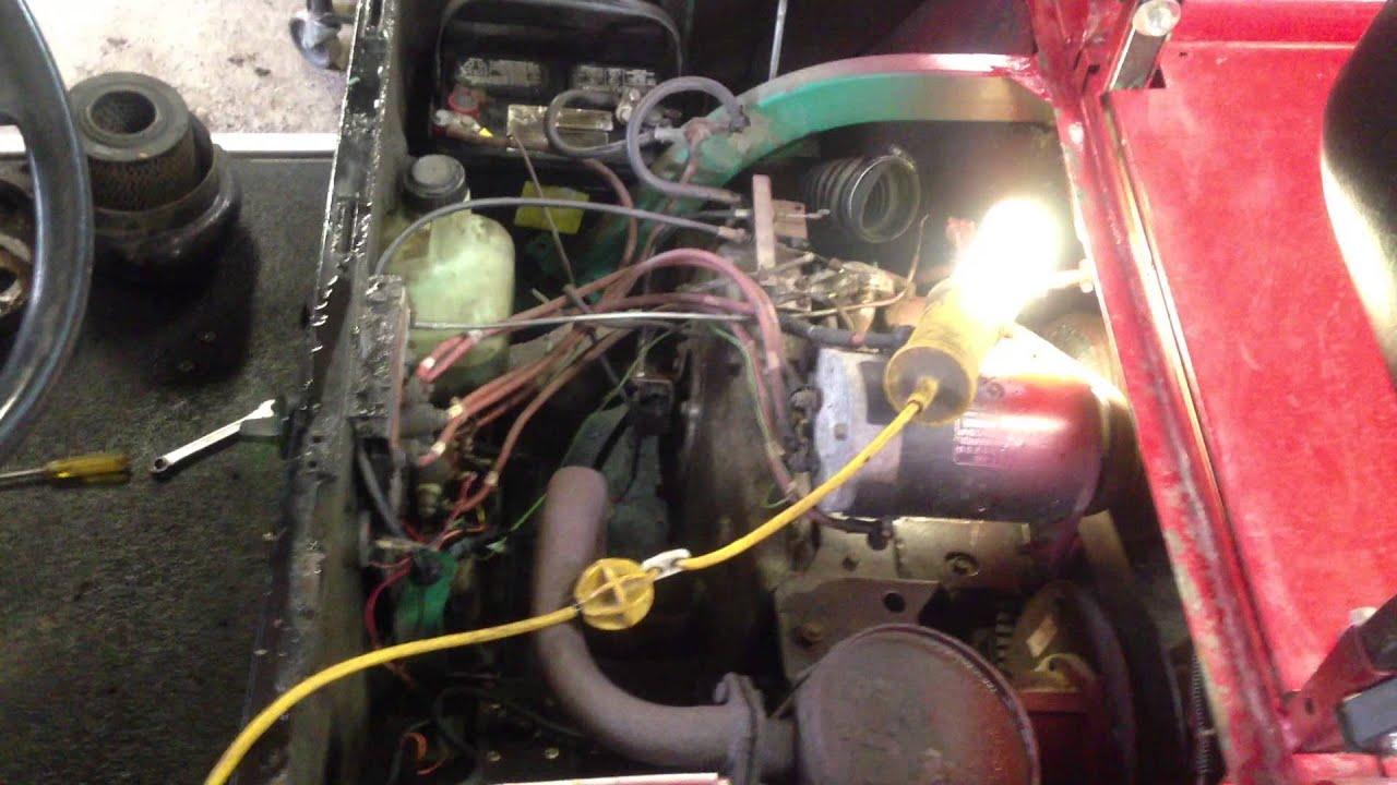 94 Club Car Golf Cart Wiring Diagram Ezgo Golf Cart Pt 1 Youtube