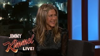 Jimmy Kimmel Confronts Jennifer Aniston About Her Friendsgiving Dinner