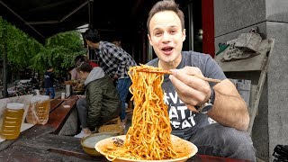 Chinese Street Food DAN DAN NOODLE Tour in Sichuan, China   INSANELY GOOD and SPICY Szechuan Noodles