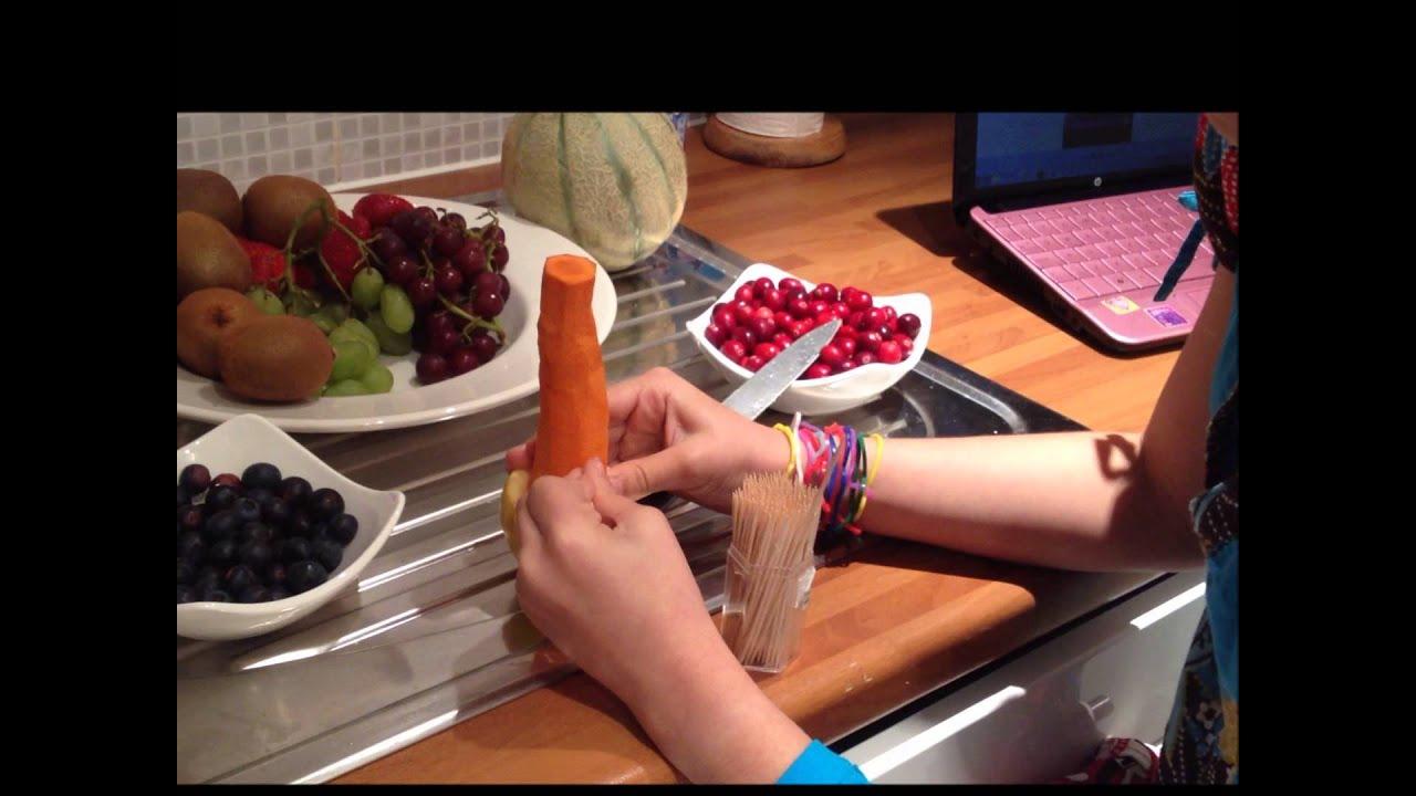 Como lo hice   Arbol de navidad de frutas  YouTube