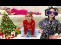 НЯНЯ для Алины и Юляшки СОСЕДКА в шоке от детей Веселое Новогоднее видео для детей