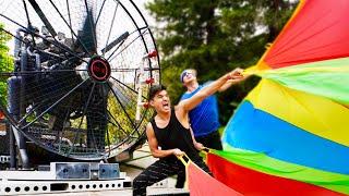 World's STRONGEST Fan VS Parachute