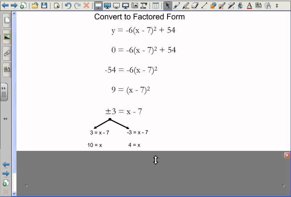 Convert Quadratic Standard Form