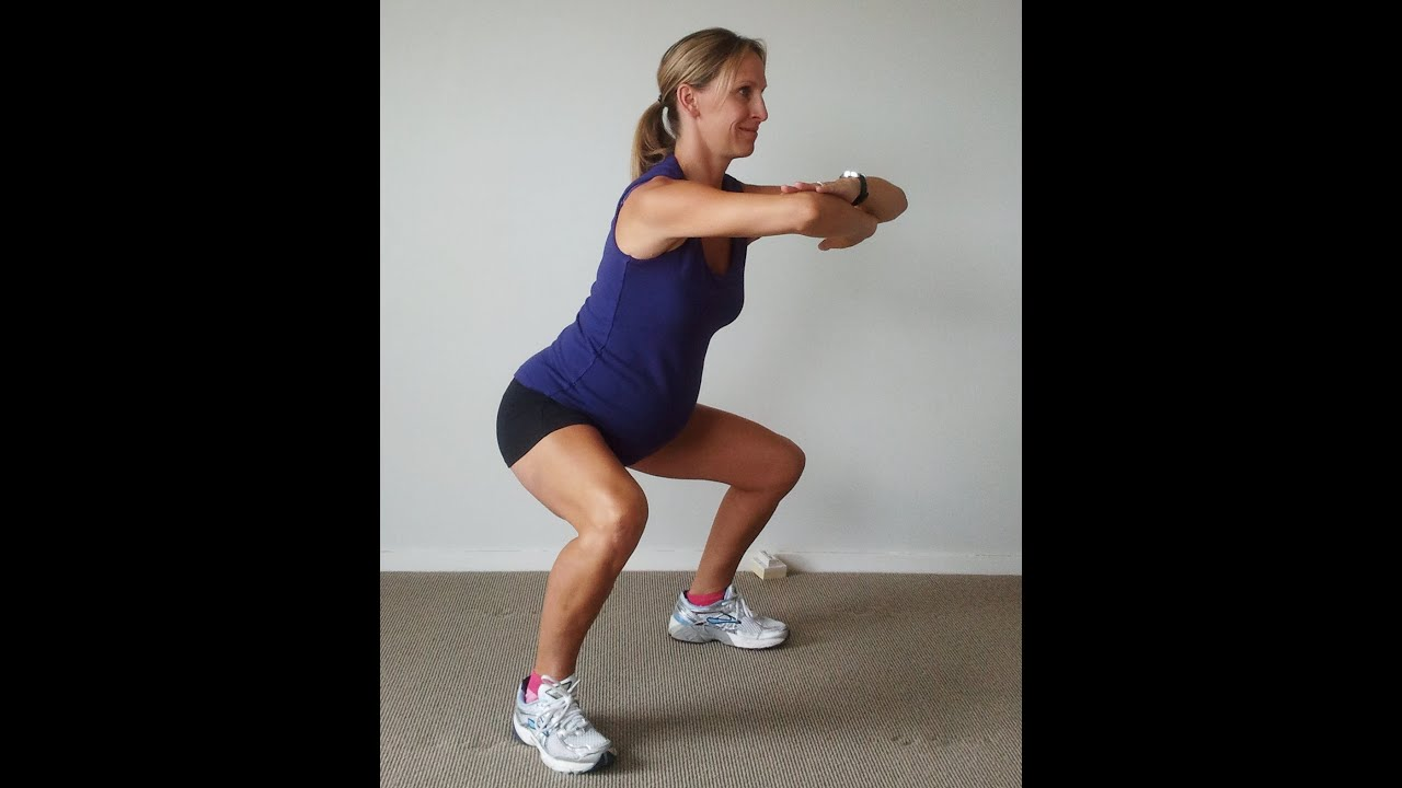 Pregnancy Exercise Squats How to Squat During Pregnancy Squat for Birth  YouTube