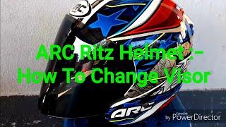 Arc Ritz Helmet : visor removal (cara tukar visor)