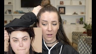 Watch Giving Myself A Tape Face Lift Video