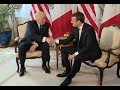 Trump Meets French President Emmanuel Macron