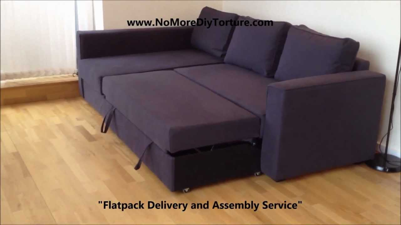 IKEA Manstad Corner sofabed with storage v2  YouTube