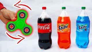 FIDGET SPINNER VS SODA!!