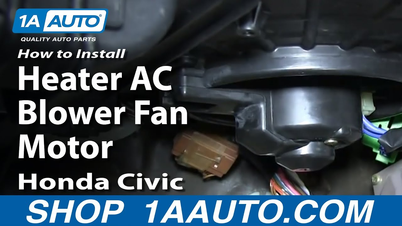 96 honda civic wiring diagram starter solenoid internal how to install replace heater ac blower fan motor 1992-97 - youtube