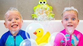 Bath Song +More Nursery Rhymes Kids Songs by Gaby and Alex