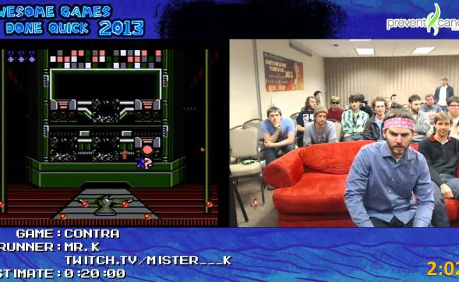 Contra Speed Run By Mr K In 0 11 34 At Awesome Games