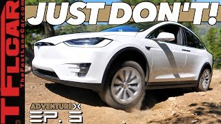 Can a Tesla Go Off-Road Up a Rocky Mountain? We Compare It to an Old-School SUV   Adventure X Ep. 3