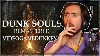 Asmongold Reacts to ″Dunk Souls″ and ″Dunk Souls Remastered″ by gamedunkey
