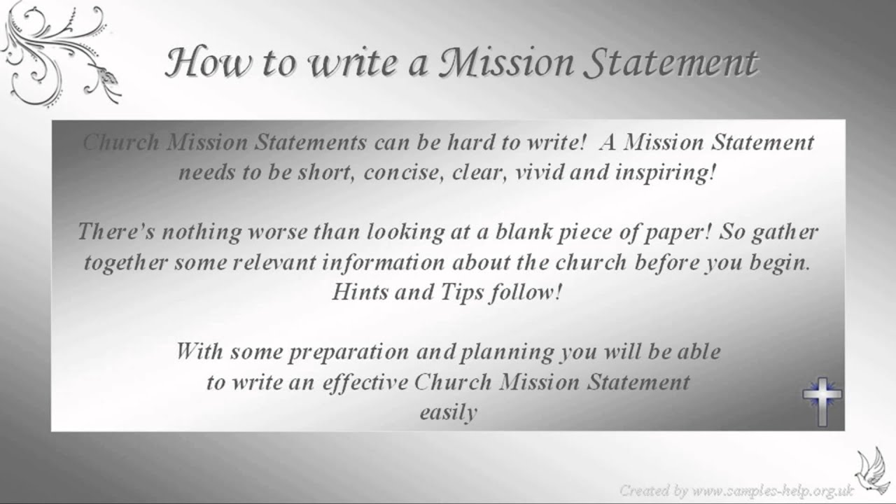 How to write Church Mission Statements  YouTube