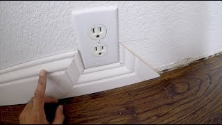Baseboard Trick - SIMPLE Installation Around Obstacles