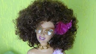 Como fazer penteado Black nas bonecas
