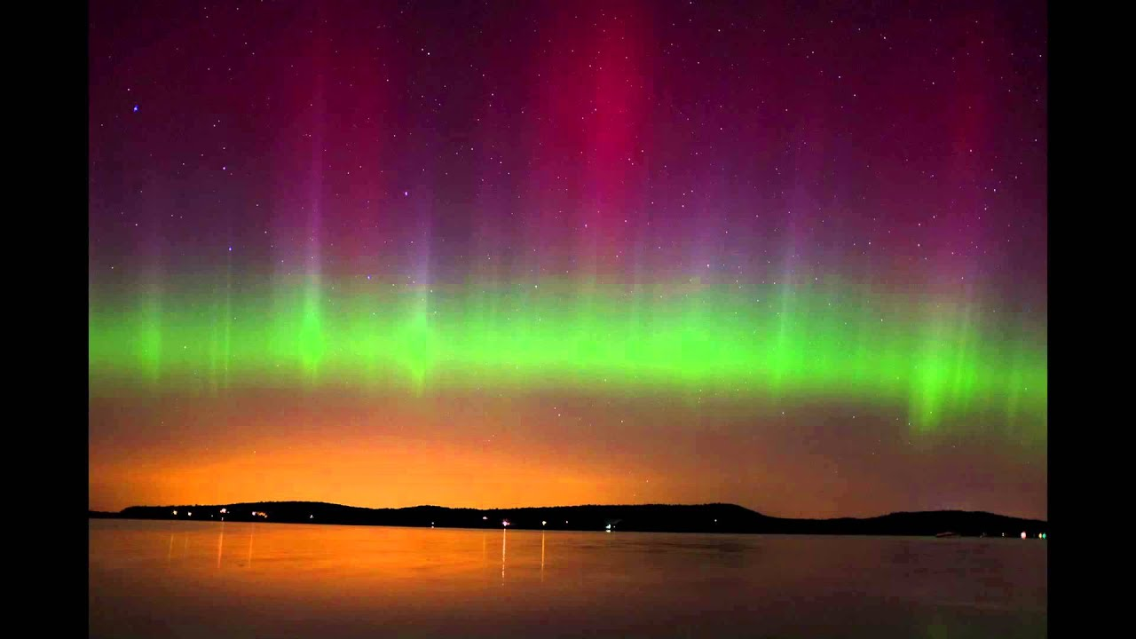 Fall Color Wallpaper Widescreen Northern Lights Aurora Borealis In Malletts Bay Vermont
