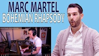 VOCAL COACH reacts to MARC MARTEL singing BOHEMIAN RHAPSODY in ONE TAKE
