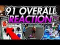 HITTING 91 OVR LIVE REACTION NBA 2K18!😱 SHIRTLESS W/ A BIKE IN THE PLAYGROUND! 99 OVERALL SOON?