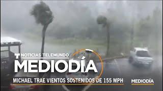 Imágenes del huracán Michael tocando tierra en el noroeste de la Florida | Noticiero | Telemundo