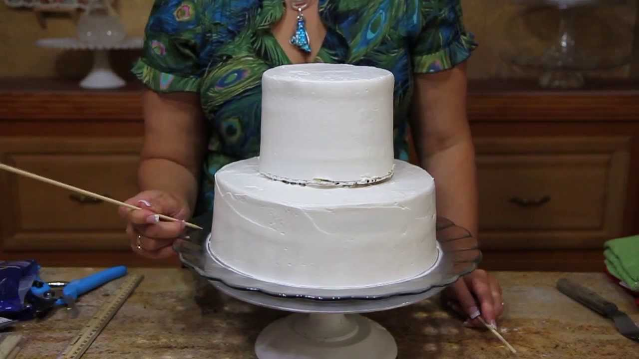 How To Make A Wedding Cake Base Two Tier Cake Cake