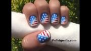 patriotic nail art 4th of july