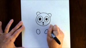 draw easy drawing cartoon lesson bear panda toddlers drawings tutorial lessons beginners teach visit