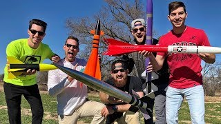 Model Rocket Battle | Dude Perfect