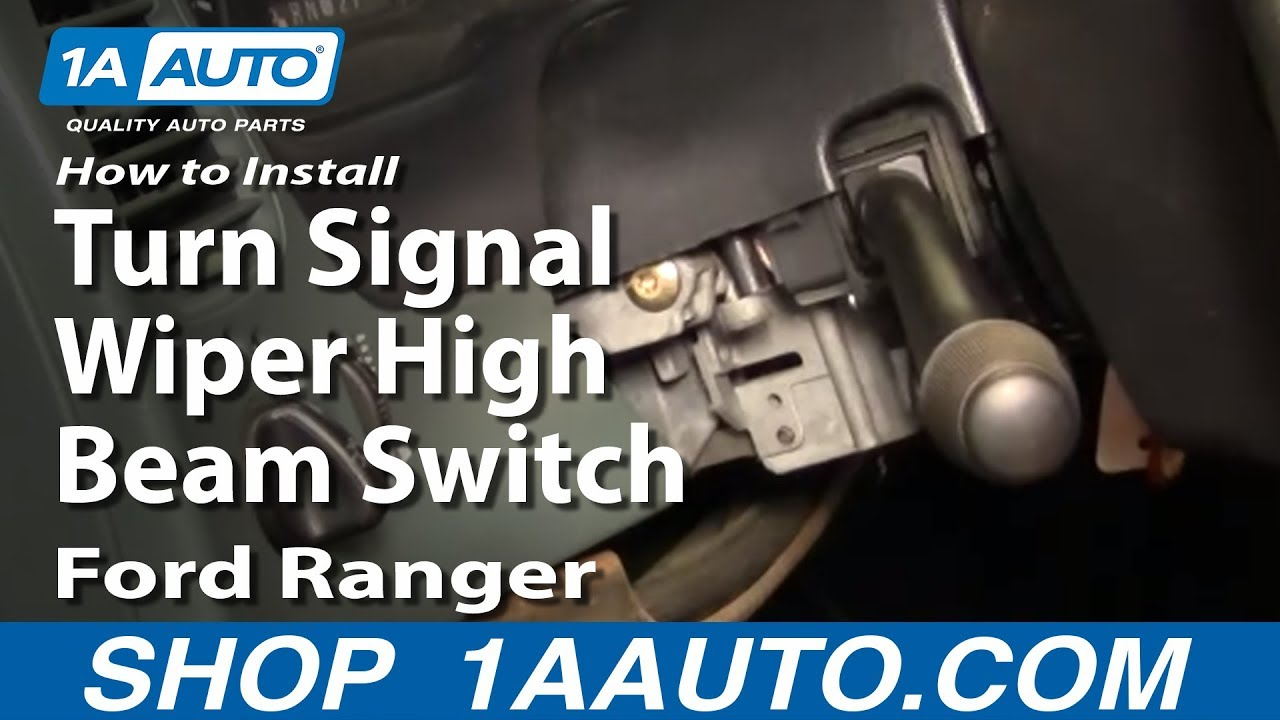 1999 f150 ignition wiring diagram pdl light switch how to install replace turn signal wiper high beam ford ranger 95-98 1aauto.com - youtube