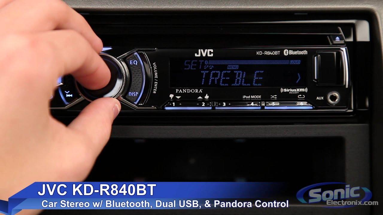 Jvc Kd R840bt Car Stereo W Bluetooth Amp Dual Usb