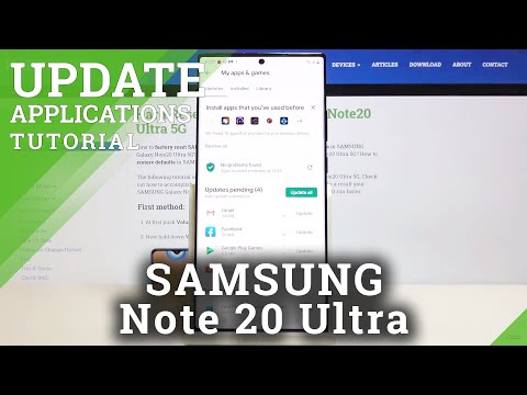 How to Update Apps in SAMSUNG Galaxy Note 20 Ultra – Find Newest App Versions