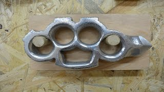 BUILD : Casting aluminum KNUCKLES with a SKULL CRACKER