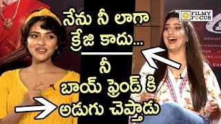 Amala Paul Making Hilarious Fun of Anchor Manjusha about Aame Movie - Filmyfocus