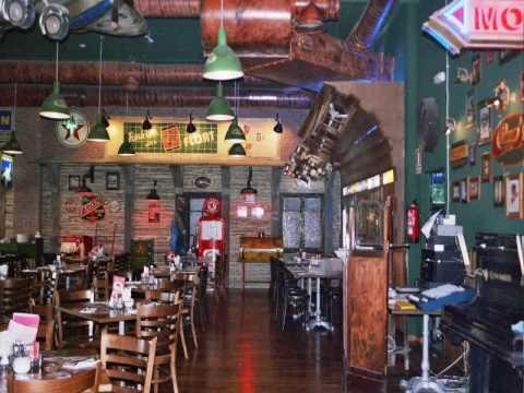 DECORETRO Decoracion tematica Bar Americano Fridays en Sevilla  YouTube
