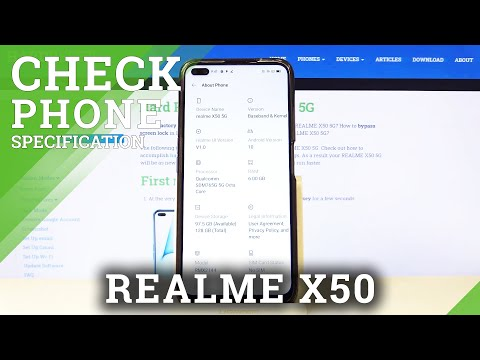 How to Find Phone Specification in REALME X50 5G – Enter Phone Info
